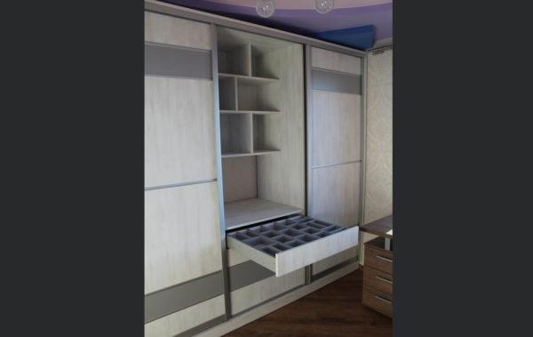 встроенный комод в шкафу