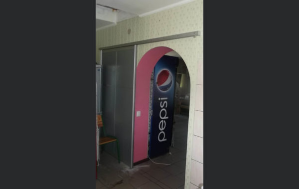 межкомнатная подвесная дверь