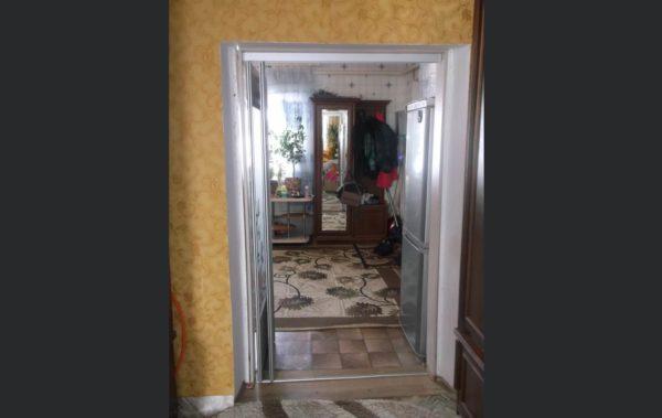 дверь стекло сатин с витражем