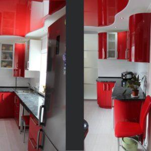 кухня двухсторонняя угловая