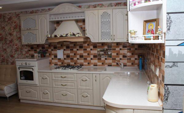 кухня угловая фасад мдф