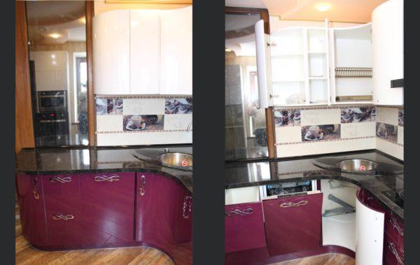 угловая кухня шкафы