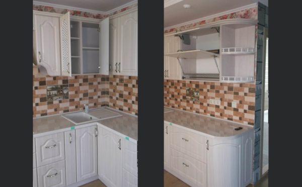 кухня мдф навесные шкафы