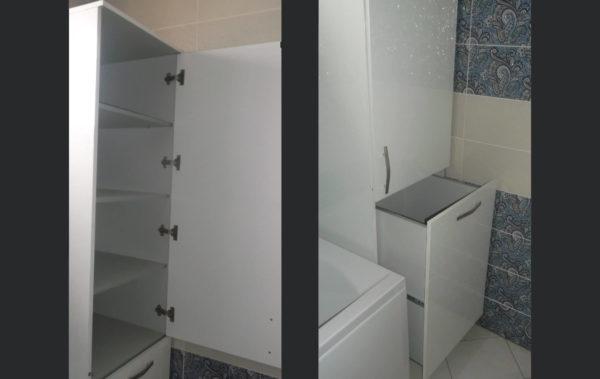 пенал для белья в ванную комнату