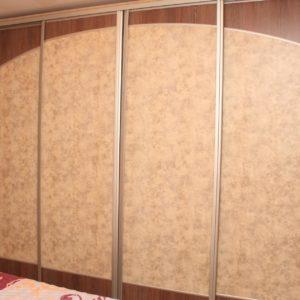 шкаф-купе 4 двери отделка кожзам