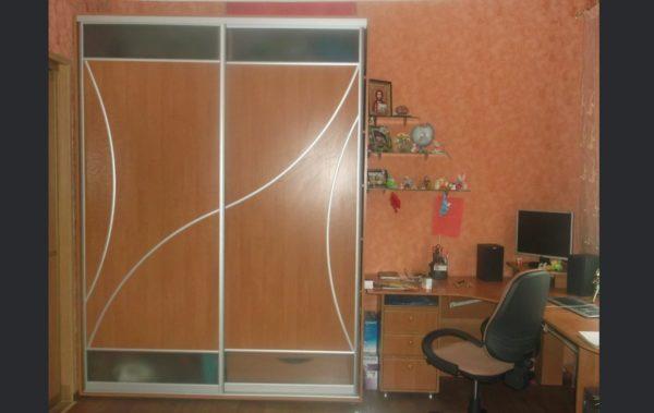 шкаф-купе дверь стекло сатин