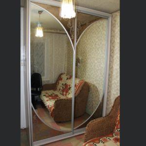 шкаф-купе зеркало бронза