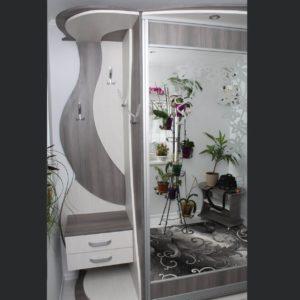 открытая встроенная вешалка шкаф-купе